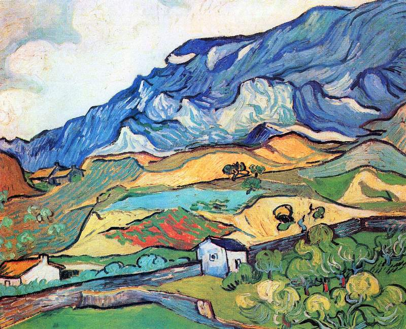 Les Alpilles, a mountain landscape near Saint-Remy by Van Gogh